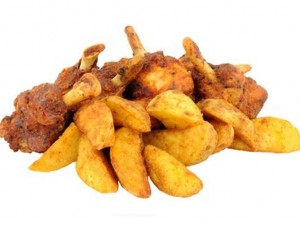4pcs Spicy Chicken with Potato Wedges