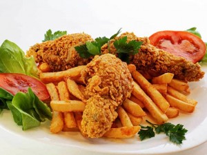 2pcs Spicy Chicken with Potato Wedges